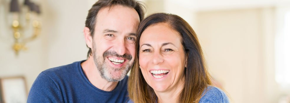 Two people in Chester-le-Street with dental implants