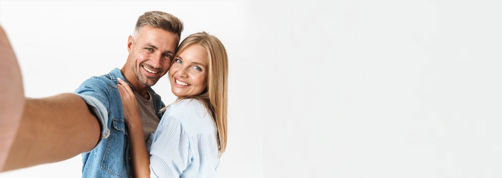 Happy smile restoration patients of our dental practice in Chester-le-Street