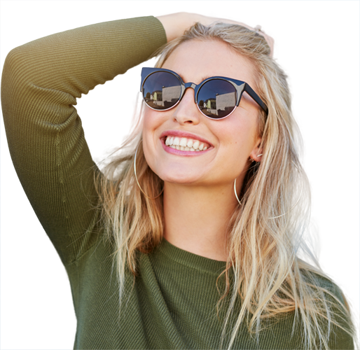 Alpha Dental Care Chester-le-Street Dentist - Smiling girl with sunglasses